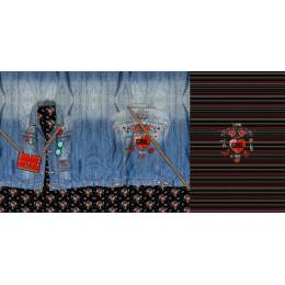 Tissu Stenzo French terry panneau de 0.75x150 cm - 474
