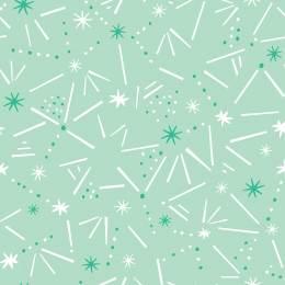Tissu Dashwood ditsies stars mint - 476