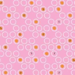 Tissu Dashwood ditsies circles rose - 476