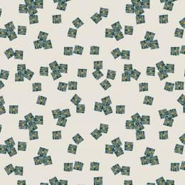 Tissu Dashwood midnight garden impression lurex - 476