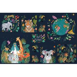 Tissu Dashwood quilting Our Planet - 476