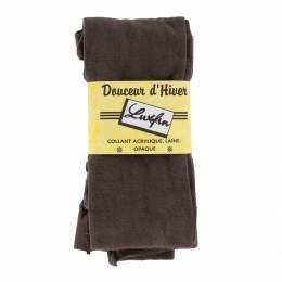 Collant laine (4%laine) marron - 48