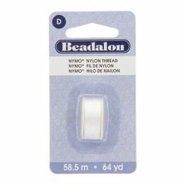Fil pour perle nymo beadalon 0,30 blanc 58,5m - 481