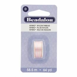 Fil pour perle nymo beadalon 0,30 rose clair 58,5m - 481