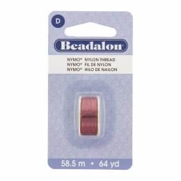 Fil pour perle nymo beadalon 0,30 bordeaux 58,5m - 481