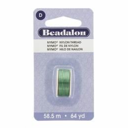 Fil pour perle nymo beadalon 0,30 emeraude 58,5m - 481