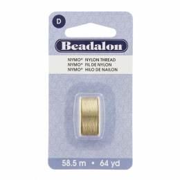 Fil pour perle nymo beadalon 0,30 sable 58,5m - 481