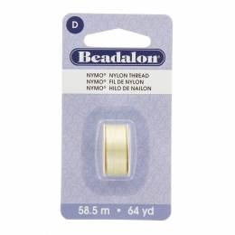 Fil pour perle nymo beadalon 0,30 crème 58,5m - 481