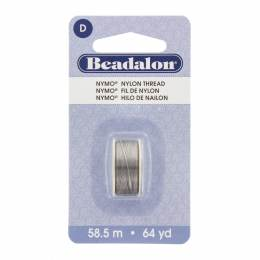 Fil pour perle nymo beadalon 0,30 gris 58,5m - 481