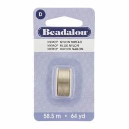 Fil perle nymo beadalon 0,30 sable cendré 58,5m - 481