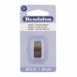 Fil pour perle nymo beadalon 0,30 brun 58,5m - 481