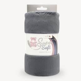 Tissu peluche Kullaloo snugly 5 mm gris - 486