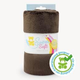 Tissu peluche snugly 5 mm 75 x 100 cm brun - 486