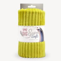 Tissu peluche Kullaloo cotelé 5 mm moutard - 486