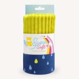 Tissu peluche Kullaloo cotelé 5 mm moutarde/goutte - 486