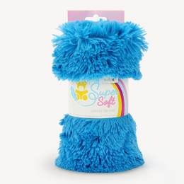 Tissu peluche Kullaloo shaggy 20mm bleu - 486