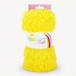 Tissu peluche Kullaloo shaggy 20mm jaune - 486