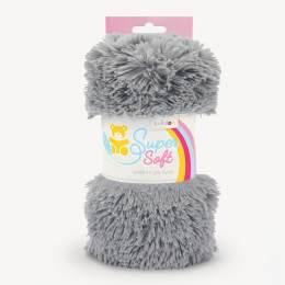 Tissu peluche Kullaloo shaggy 20mm gris - 486