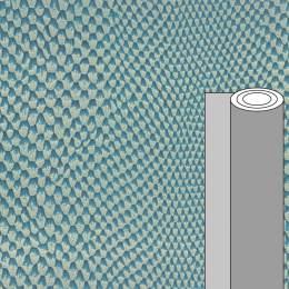 Coupon tissu simili cuir iguane bleu 50 x 69 cm - 488