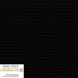 Tissu Stof velours stretch Avalana noir à côte - 489