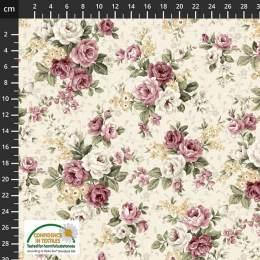 Tissu Stof Fabrics Kelly-roses - 489