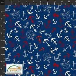 Tissu Stof Fabrics My seven seas - 489