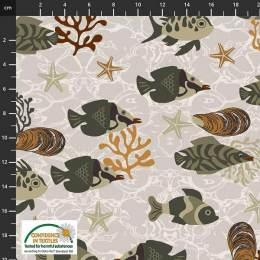 Tissu Stof Fabrics Ocean jewels - 489