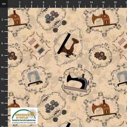 Tissu Stof Fabrics Sew Sew Sew it - 489