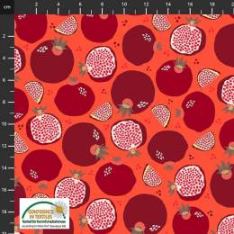 Tissu Stof Fabrics Peach on Earth - 489