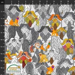 Tissu Stof Fabrics Medinilla Monkey - 489