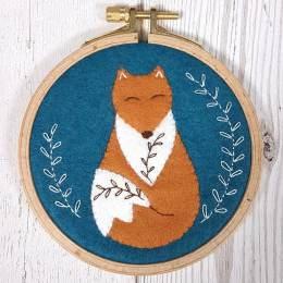 Kit tambour appliqué folklore le renard malicieux - 490