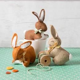 Kit feutrine trois p'tits lapins - 490