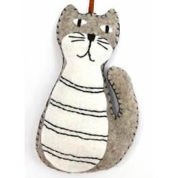 Mini kit feutrine chat gris - 490