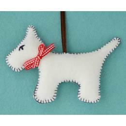 Mini kit feutrine le chien blanc - 490