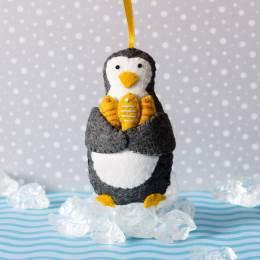 Mini kit feutrine petit pingouin pêcheur - 490