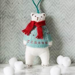 Mini kit feutrine l'ours blanc - 490