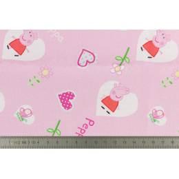 Tissu Peppa Pig lot de 6 coupons 45x45 cm - 491