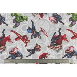Tissu Avengers lot de 6 coupons 45x45 cm - 491