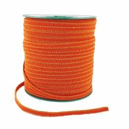 Tresse élastique 6 mm orange x 100 m - 491