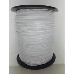 Tresse élastique 6 mm blanc (de 550 et 620 m) - 491