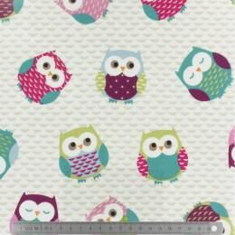 Tissu Fryett's enduit owls multi - 492
