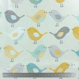 Tissu Fryett's enduit birds ocre - 492