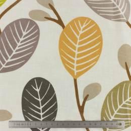 Tissu Fryett's enduit leaves - 492
