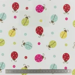 Tissu Fryett's enduit ladybird multi - 492
