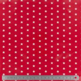 Tissu Fryett's enduit étoile rouge - 492