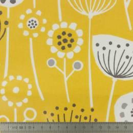 Tissu Fryett's enduit fleurs ocre - 492