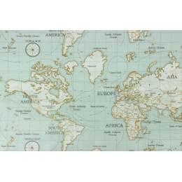 Tissu Fryett's enduit maps - 492