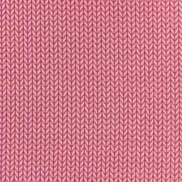 Tissu jersey Alb Stoffe big knit rose-fushia - 495