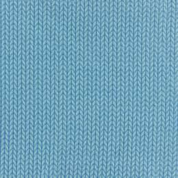 Tissu jersey Alb Stoffe big knit azur bleu - 495