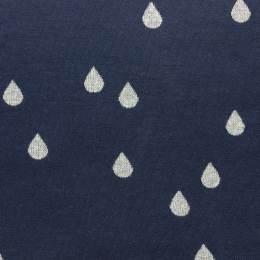 Tissu jacquard drops marine lurex argent - 495